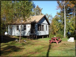 Maine Lake Cabin Rentals - Point Cabin